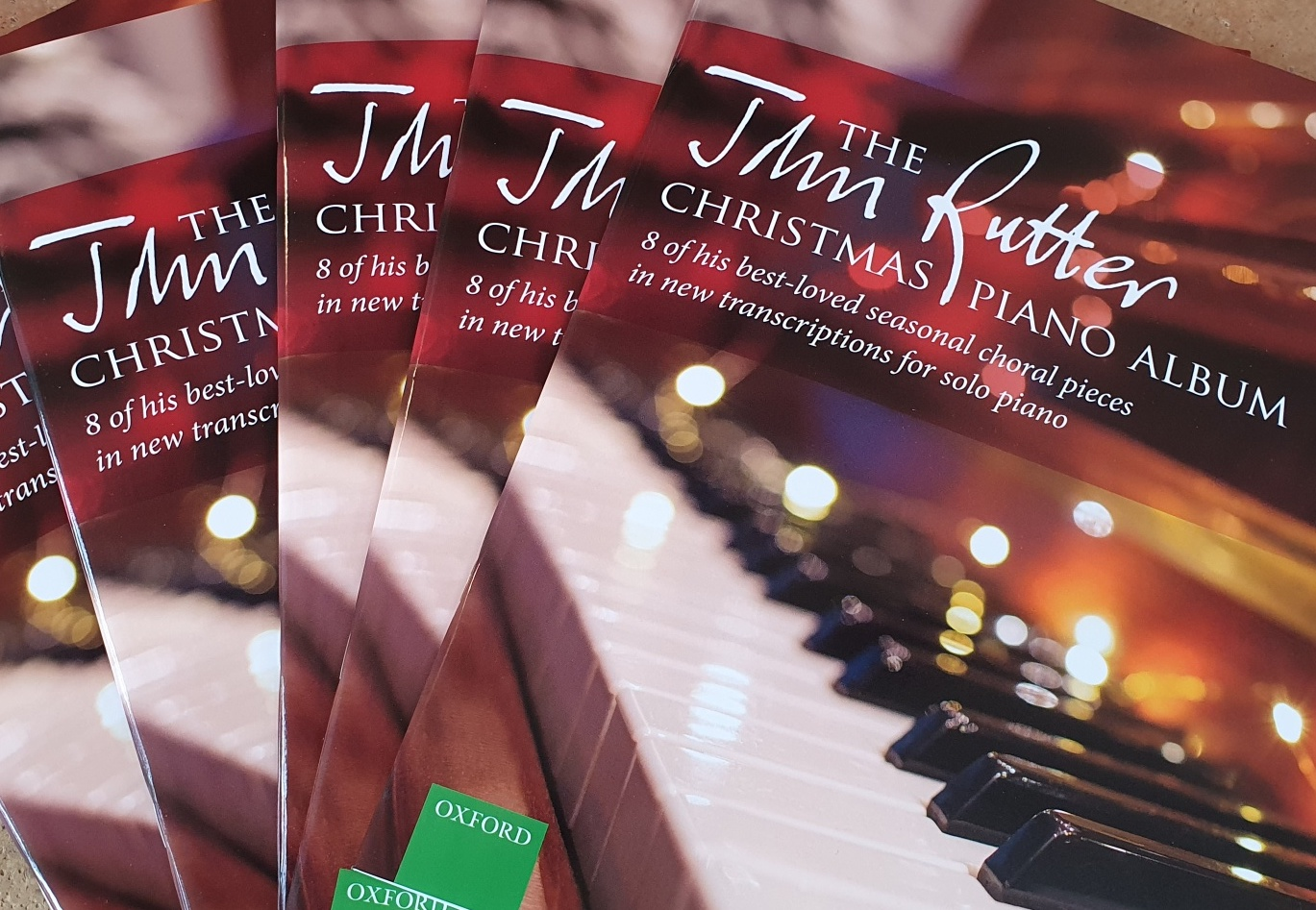 The John Rutter Christmas Piano Album sheet music is out now